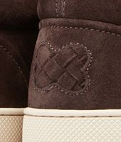 Sneakers Espresso in Suede Intrecciato