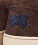 BOTTEGA VENETA Prusse Espresso Intrecciato Suede Sneaker Trainers U ap