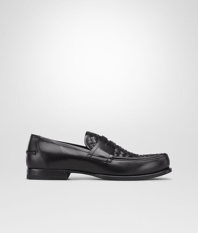 BOTTEGA VENETA Nero Intrecciato Calf Moccasin Mocassin or Slipper U fp