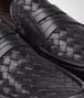 BOTTEGA VENETA Nero Intrecciato Calf Moccasin Mocassin or Slipper U ap