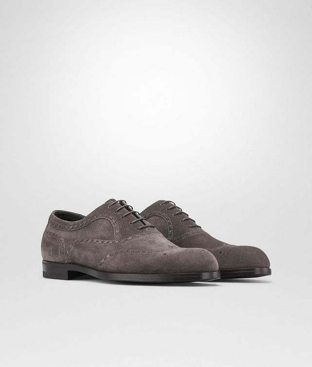BOTTEGA VENETA Ardoise Calf Suede York Shoe Lace Up U fp