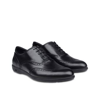 ERMENEGILDO ZEGNA: Laced shoes Maroon - Black - 44552585LU