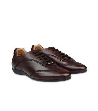 ERMENEGILDO ZEGNA: Laced shoes Blue - Dark brown - 44552586VW