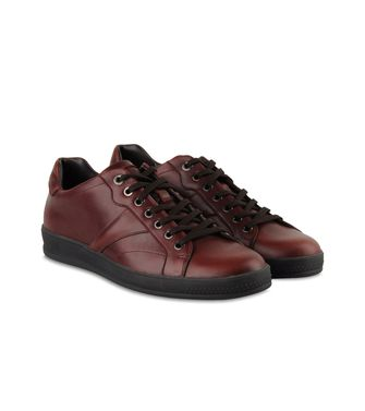 ZEGNA SPORT: Sneakers Pastel blue - Dark brown - Brown - 44552656AD