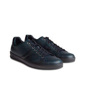 ZEGNA SPORT: Sneakers Pastel blue - Dark brown - Brown - 44552656PH