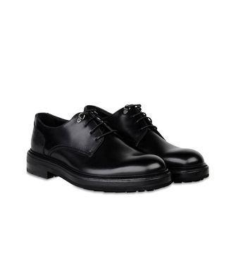 ERMENEGILDO ZEGNA: Laced shoes Black - Dark brown - 44552971CI