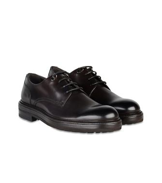 ERMENEGILDO ZEGNA: Laced shoes Blue - Dark brown - 44552971SQ