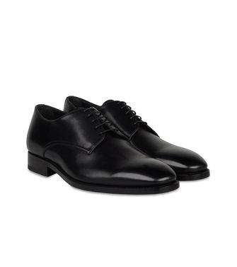 ERMENEGILDO ZEGNA: Laced shoes Blue - Dark brown - 44552977PE