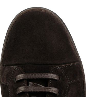 ERMENEGILDO ZEGNA: Sneakers Pastel blue - Dark brown - Brown - 44552991EW