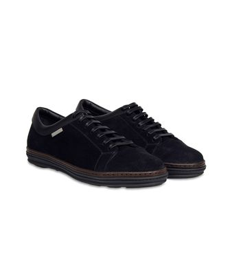 ERMENEGILDO ZEGNA: Sneakers Blue - Dark brown - 44552991OA