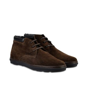 ERMENEGILDO ZEGNA: Laced Ankle Boot Dark brown - 44552992WA