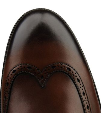 ERMENEGILDO ZEGNA: Laced shoes Blue - Dark brown - 44552994EA