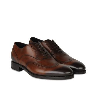 ERMENEGILDO ZEGNA: Laced shoes Black - Maroon - 44552994EA
