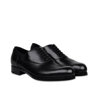 ERMENEGILDO ZEGNA: Laced shoes Black - Dark brown - 44552995IQ