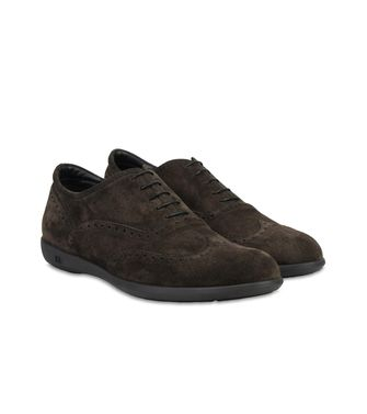 ERMENEGILDO ZEGNA: Laced shoes Blue - Dark brown - 44553014AX