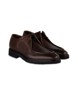 ERMENEGILDO ZEGNA: Laced shoes Dark brown - 44553015GW