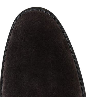 ERMENEGILDO ZEGNA: Laced Ankle Boot Dark brown - 44553016OV