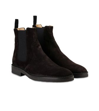 ERMENEGILDO ZEGNA: Laced Ankle Boot Blue - 44553016OV