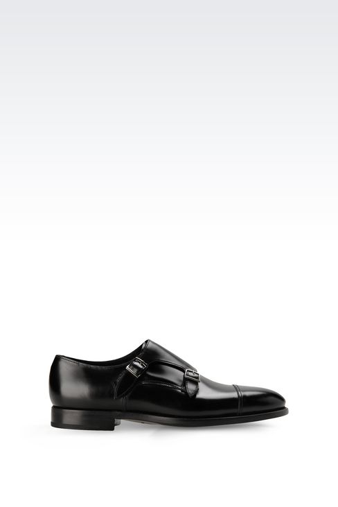 MONKSTRAP IN CALFSKIN: Moccasins Men by Armani - 1
