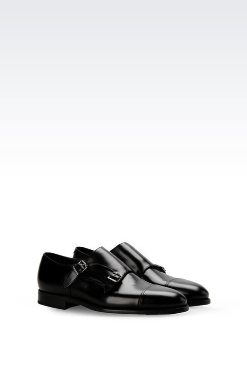 MONKSTRAP IN CALFSKIN: Moccasins Men by Armani - 2