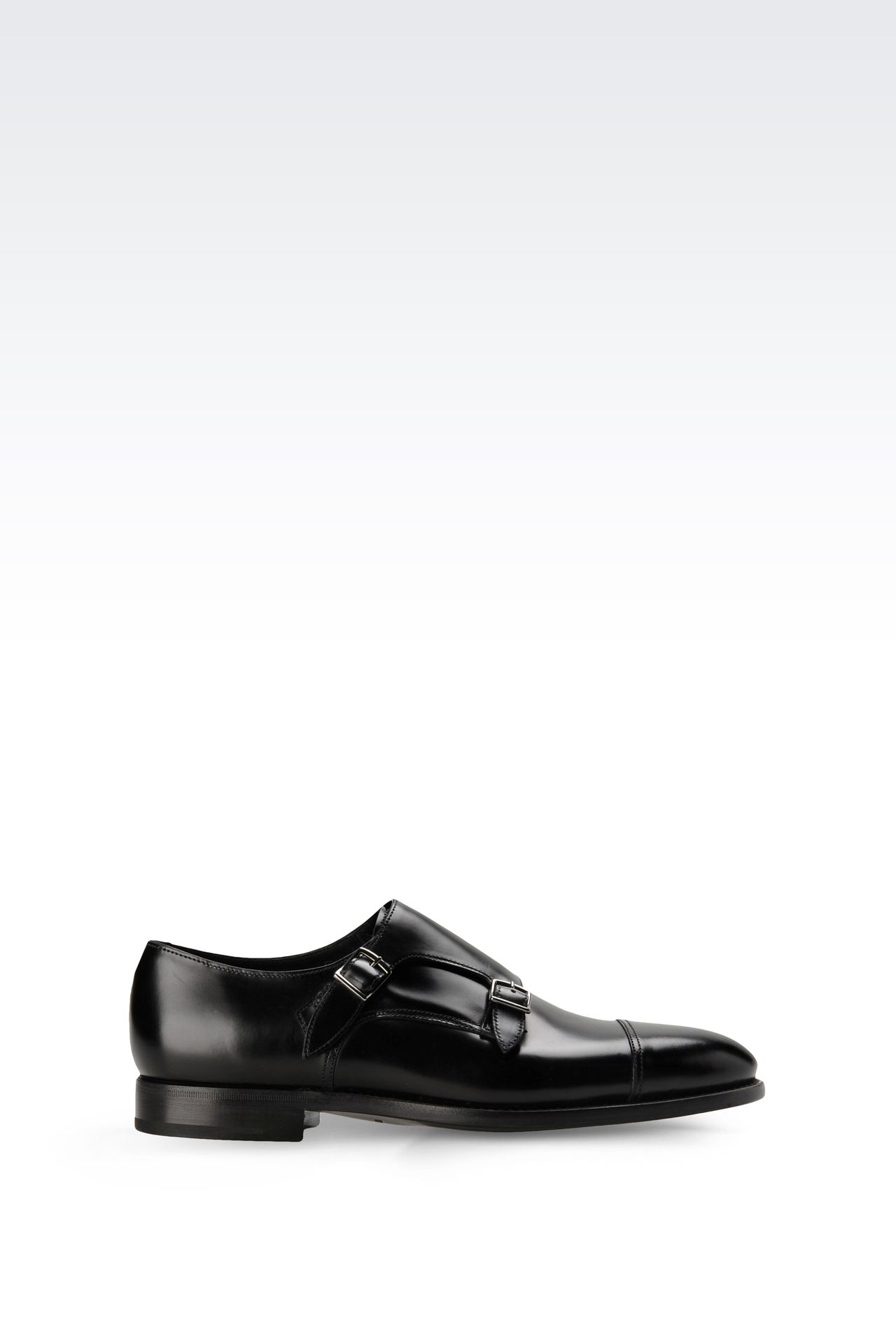 MONKSTRAP IN CALFSKIN: Moccasins Men by Armani - 0