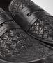 BOTTEGA VENETA Nero Calf Intrecciato Caiman Moccasin Mocassin or Slipper U ap