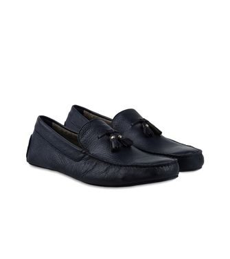 ERMENEGILDO ZEGNA: Loafers Blue - Steel grey - 44558579DF