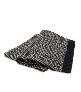 ERMENEGILDO ZEGNA: Scarf Blue - Dark brown - 44559105XR