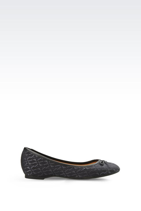 ALL OVER LOGO JACQUARD BALLERINAS: Ballet flats Women by Armani - 1