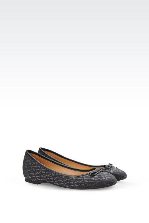 ALL OVER LOGO JACQUARD BALLERINAS: Ballet flats Women by Armani - 2
