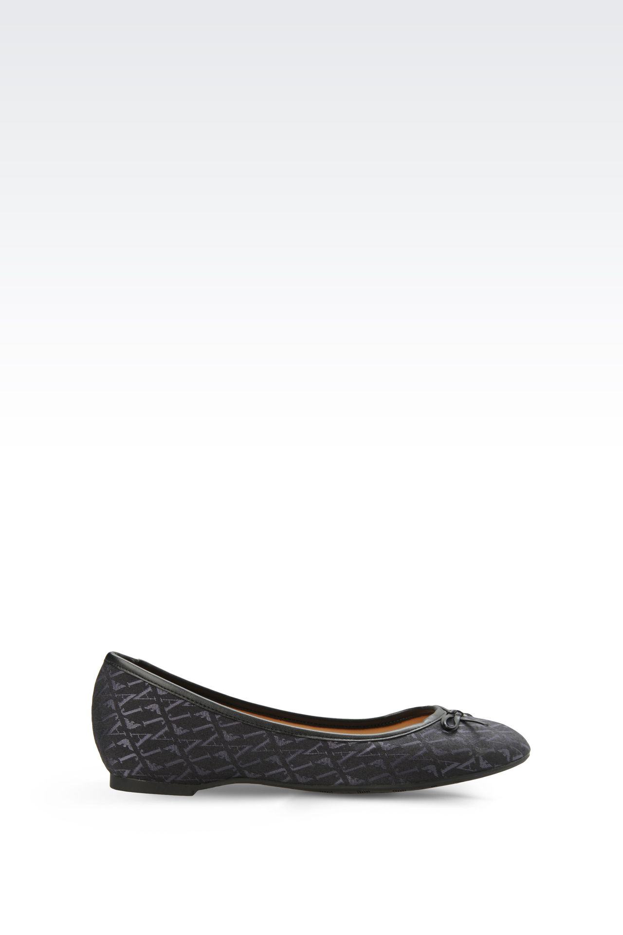 ALL OVER LOGO JACQUARD BALLERINAS: Ballet flats Women by Armani - 0