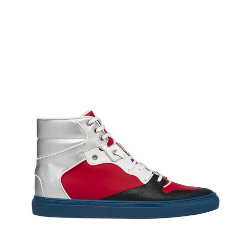 Balenciaga Multimaterial Perforated High Sneakers