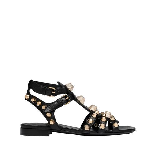 Balenciaga Giant Gold Flat sandal