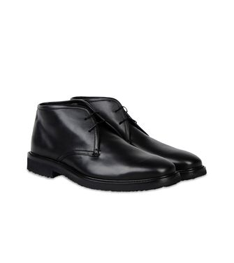 ERMENEGILDO ZEGNA: Laced Ankle Boot Black - 44563578JM