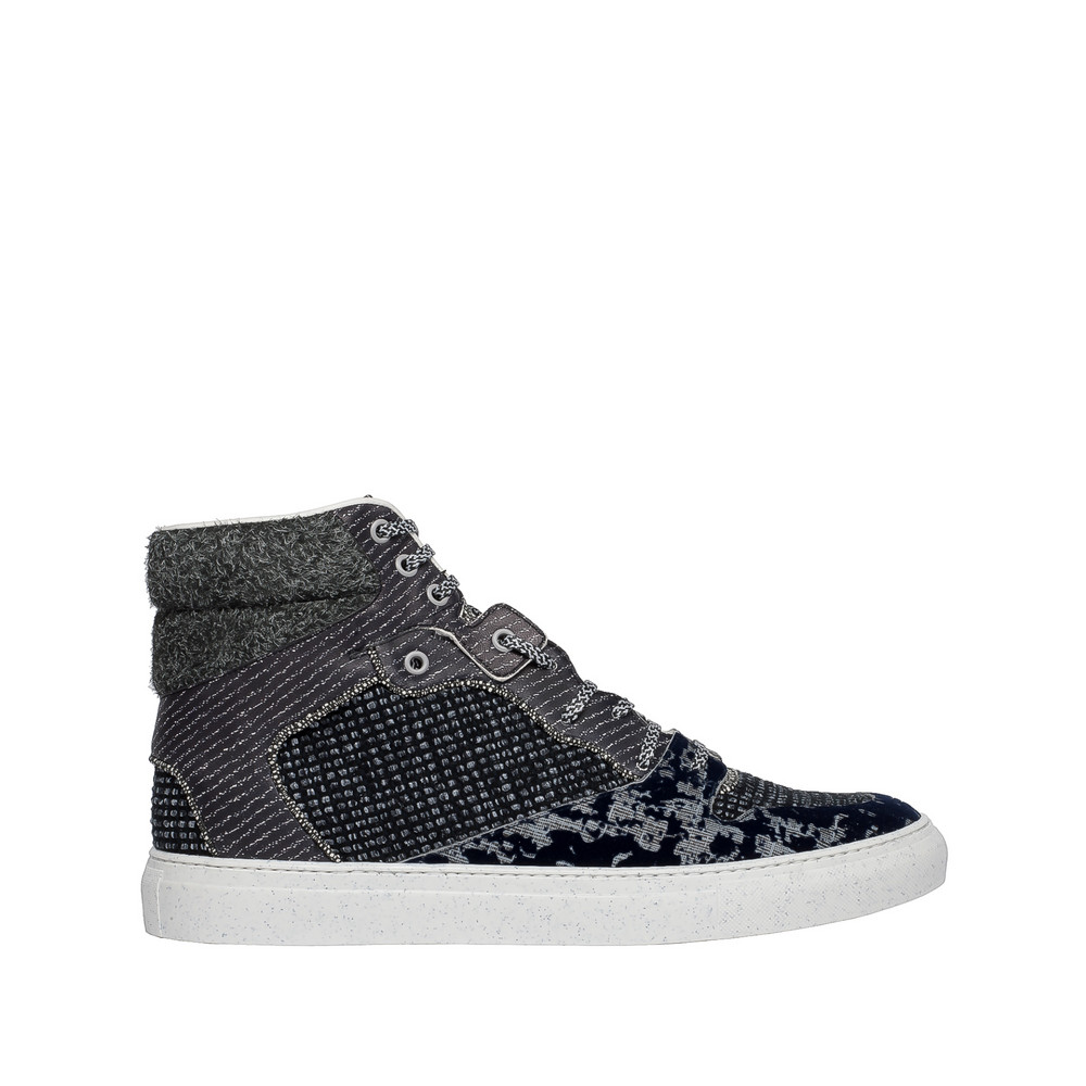 Balenciaga Sneakers Hautes Multimatières Tweed