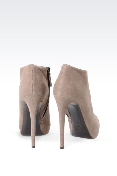 SUEDE ANKLE BOOT WITH PLATFORM: Ankle boots Women by Armani - 3