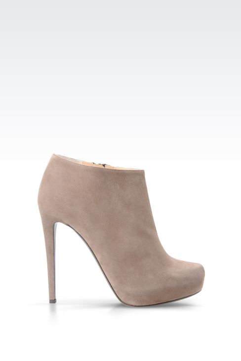 SUEDE ANKLE BOOT WITH PLATFORM: Ankle boots Women by Armani - 1