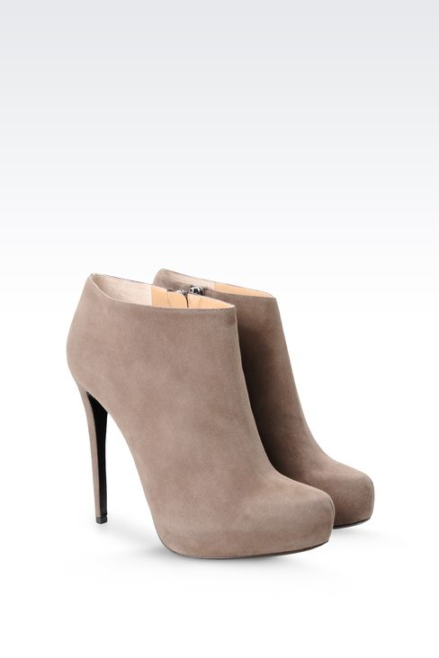 SUEDE ANKLE BOOT WITH PLATFORM: Ankle boots Women by Armani - 2