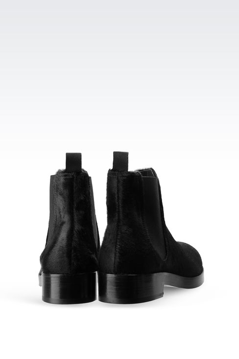 CHELSEA BOOT IN PONY SKIN: Ankle boots Women by Armani - 3