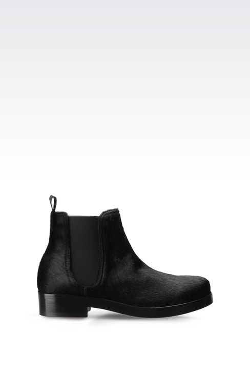 CHELSEA BOOT IN PONY SKIN: Ankle boots Women by Armani - 1