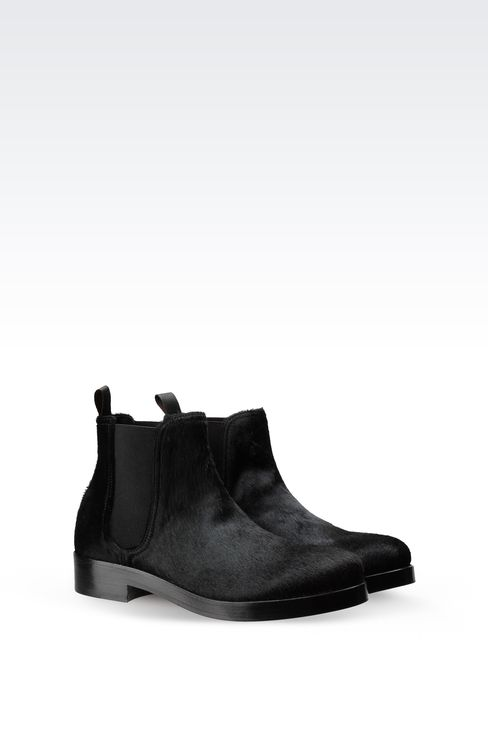 CHELSEA BOOT IN PONY SKIN: Ankle boots Women by Armani - 2