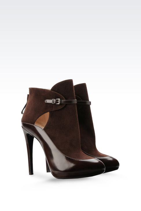 LEATHER ANKLE BOOT WITH ZIPPER: Ankle boots Women by Armani - 2