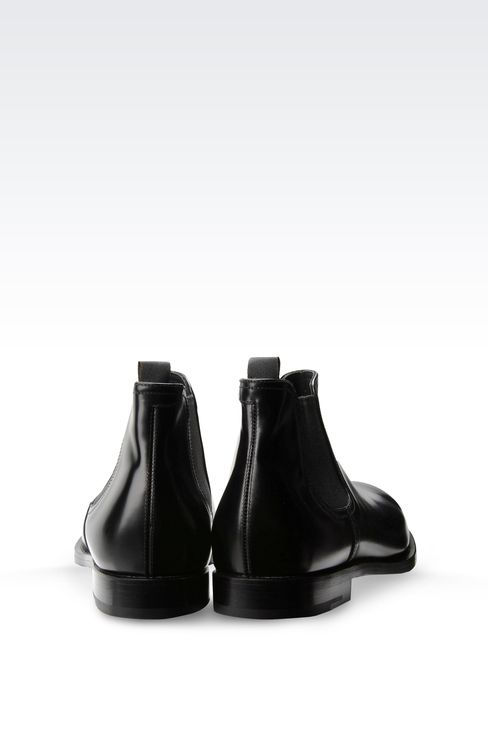 CHELSEA BOOT IN LEATHER WITH LEATHER SOLE: Ankle boots Men by Armani - 3
