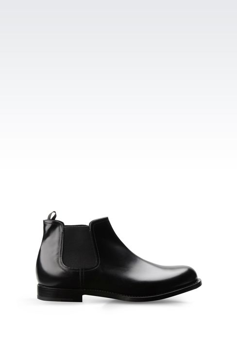 CHELSEA BOOT IN LEATHER WITH LEATHER SOLE: Ankle boots Men by Armani - 1