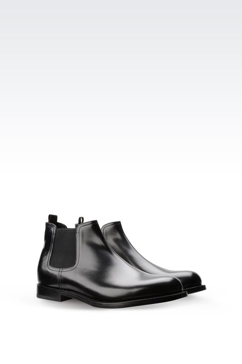 CHELSEA BOOT IN LEATHER WITH LEATHER SOLE: Ankle boots Men by Armani - 2