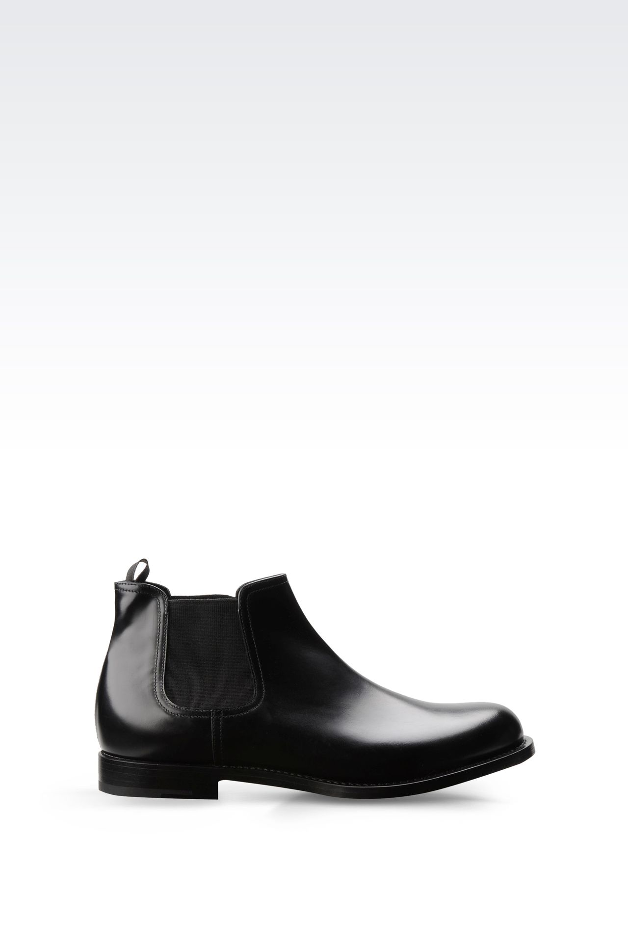 CHELSEA BOOT IN LEATHER WITH LEATHER SOLE: Ankle boots Men by Armani - 0