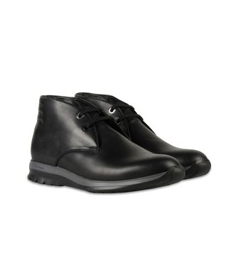 ZEGNA SPORT: Laced Ankle Boot Black - Maroon - 44570292EN