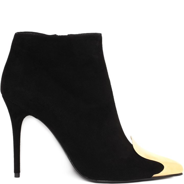 Alexander McQueen, Metal Cap Pointed Ankle Boot