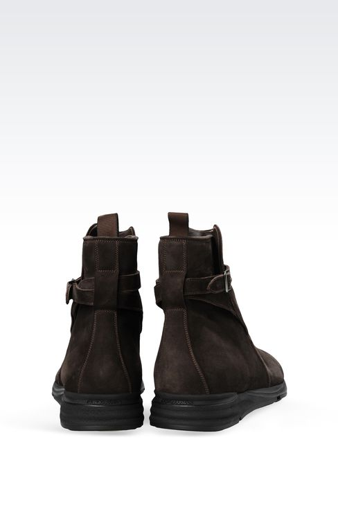 SUEDE ANKLE BOOT WITH RUNNING SOLE: Ankle boots Men by Armani - 3