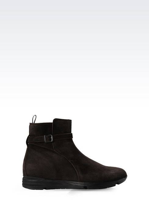SUEDE ANKLE BOOT WITH RUNNING SOLE: Ankle boots Men by Armani - 1